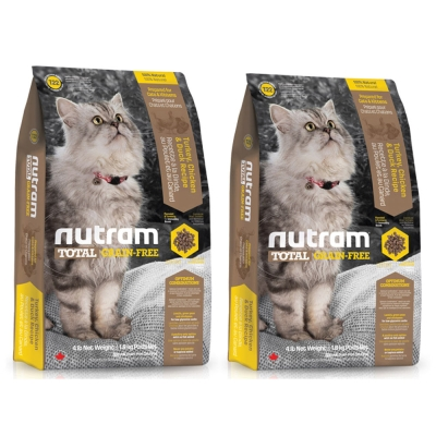 Nutram紐頓 T22無穀貓 火雞配方 貓糧 6.8公斤 X 2包入