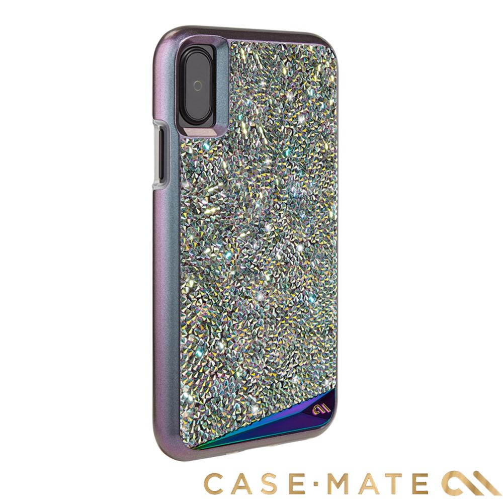 美國Case-Mate iPhone X Brilliance水鑽雙層防摔手機保護殼-彩虹