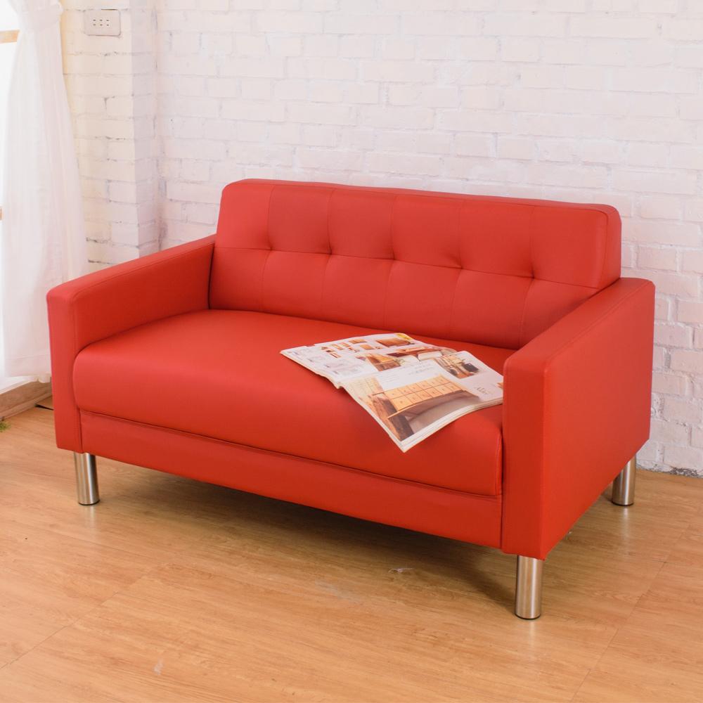 沙發 雙人 露比沙發 蘋果紅 AT HOME