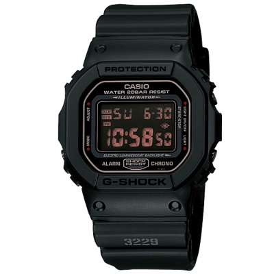 G-SHOCK 赤血方剛之傳神運動數位錶(DW-5600MS-1)-方款/42.8mm
