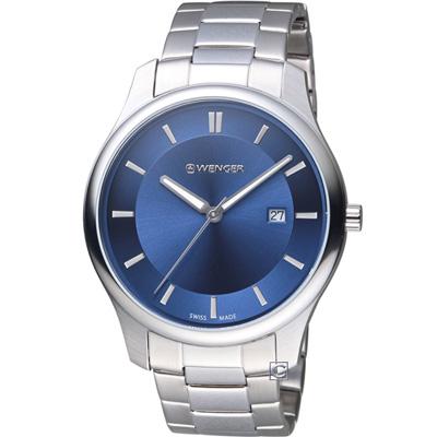 WENGER City系列 經典簡約紳士腕錶(01.1441.117)43mm