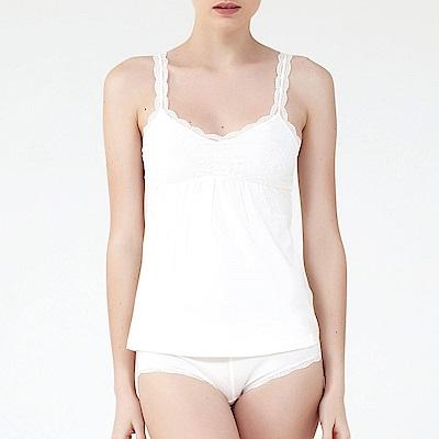 ELLE蕾絲細肩帶背心_白/粉/黑-E31232