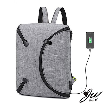 JW 時尚旅人一體成型多功機能胸包後背包  共四色
