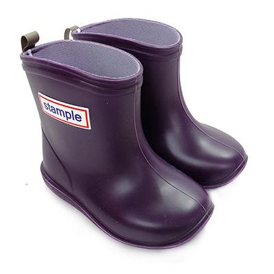 Stample日本製兒童雨鞋(藍莓紫)