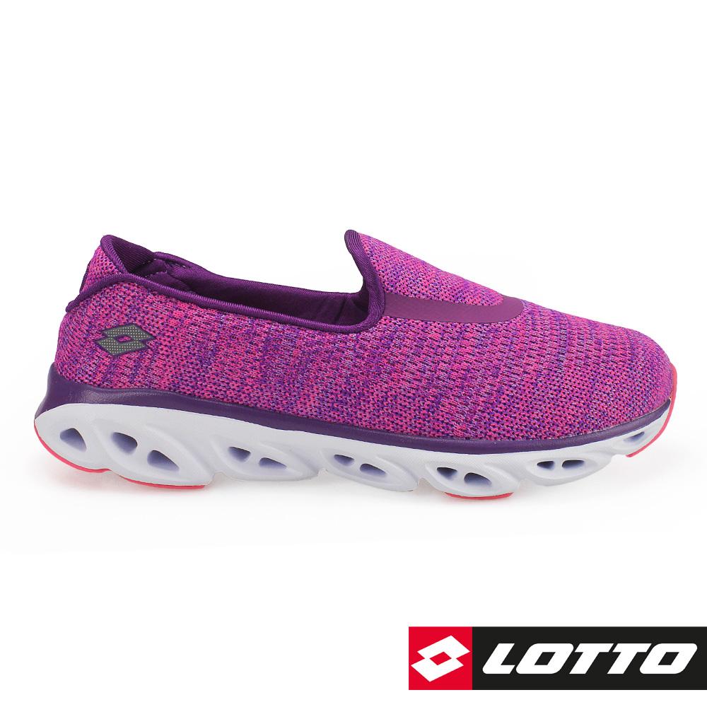 LOTTO 義大利 女 EASY FLOW 健體步行鞋-桃紫