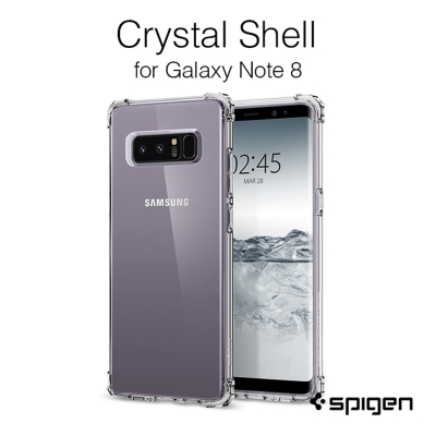 Spigen Galaxy Note 8  Crystal Shell-軍規雙料...