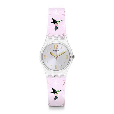 Swatch 英倫風情 ENVOLE MOI 可愛蜂鳥手錶