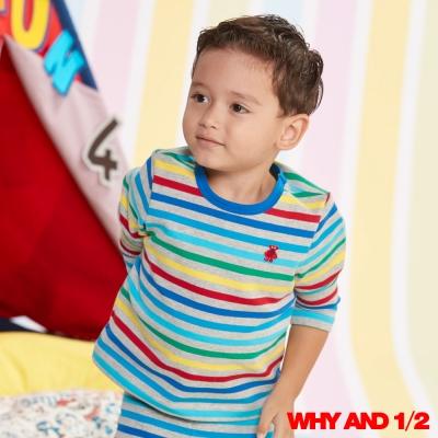 WHY AND 1/2 彩條家居服 彈性棉質T恤 2Y-4Y