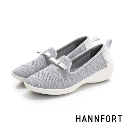 HANNFORT H-COMF五密度編織甜美樂福鞋-女-率性灰