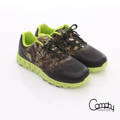 Comphy 超輕漫步 渲染圖騰印刷透氣網布綁帶運動鞋 綠