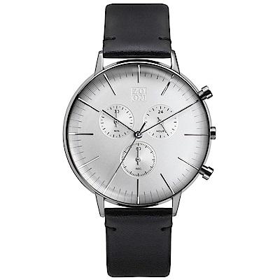 ZOOM REFINE 純粹經典計時腕錶-白 /44mm