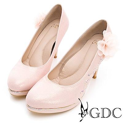 GDC-貴氣逼人水鑽嬌美質感新娘鞋-粉色