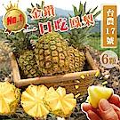【天天果園】台灣一口吃蜜鳳梨6顆(每顆約500-750g)