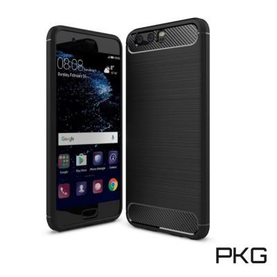 PKG HUAWEI P10 PLUS 抗震防摔保護殼(碳纖維紋系列-紳士黑)