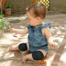 GoBabyGo 丹麥 黑色款專業防滑寶寶爬行護膝