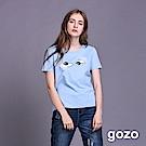 gozo 大眼睛蕾絲睫毛棉T(三色)