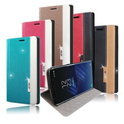 VXTRA 三星 Galaxy S8+/S8 Plus 6.2吋 韓系潮流磁力皮...