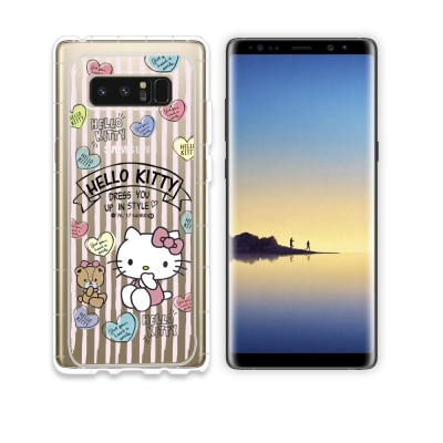 HELLO KITTY Samsung Galaxy Note 8 氣墊空壓殼(...