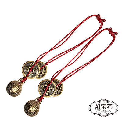 開運催財神獸專用-小銅鈴對組-適合掛於貔貅-麒麟龍