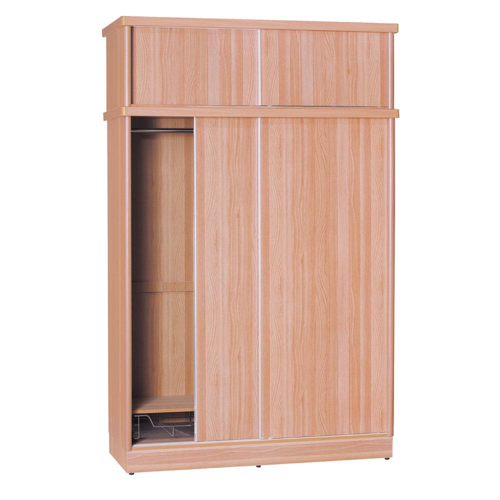 品家居 賈伯斯4尺推門衣櫃(五色可選)-120x60x238.5cm-免組