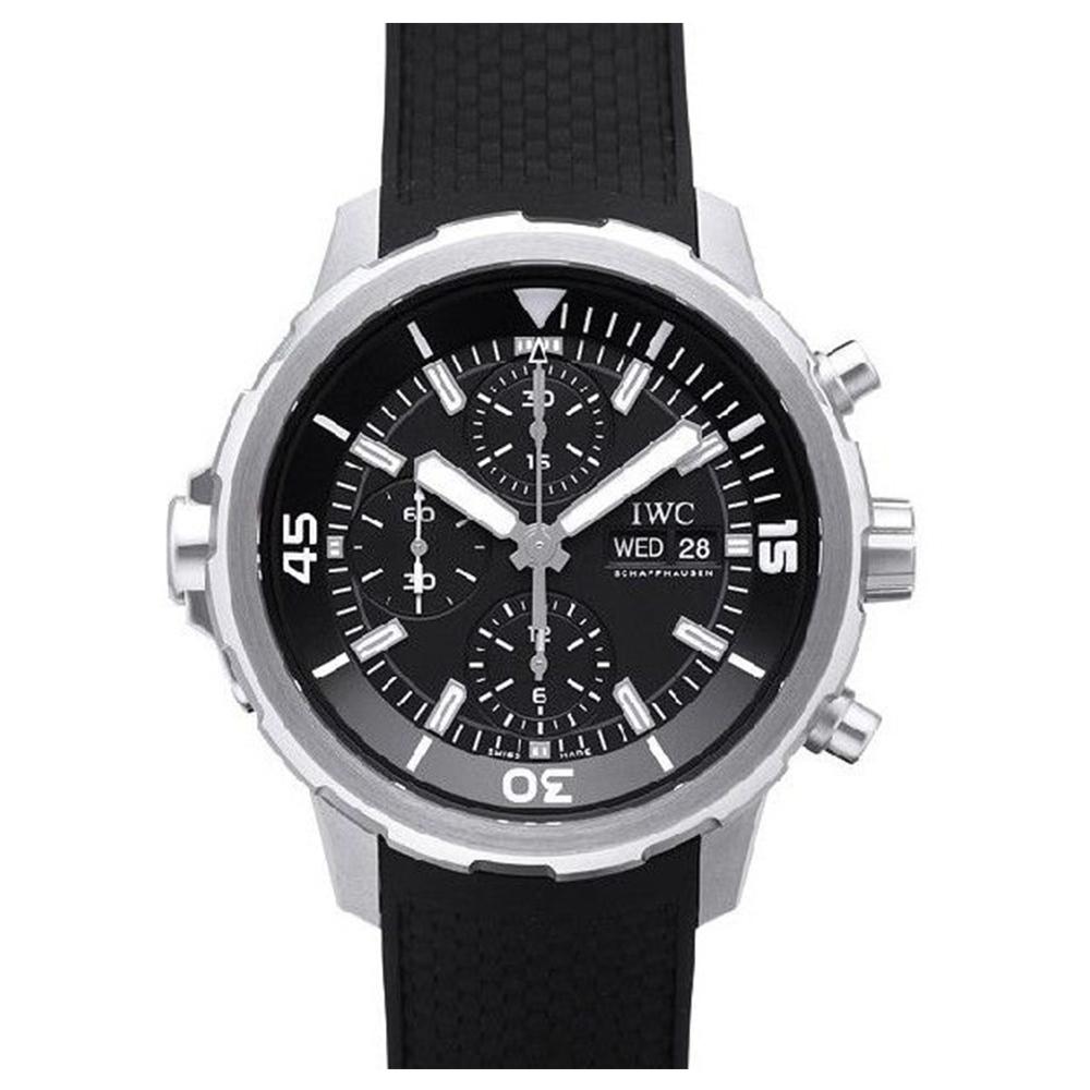 IWC 萬國錶 海洋時計計時黑面黑色橡膠腕錶(IW376803)-44mm