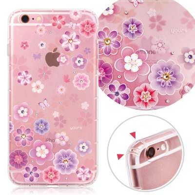YOURS APPLE iPhone6s Plus 奧地利彩鑽防摔手機殼-花蕾