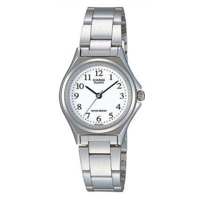 CASIO 經典簡約時尚巧小腕錶(LTP-1130A-7B)-白色數字面/28mm