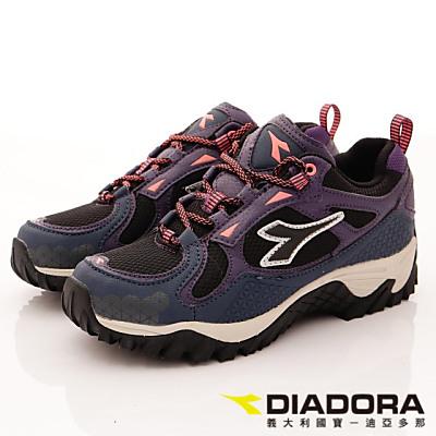 DIADORA-高彈PU能量戶外款-OTH116藍紫(女段)