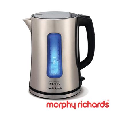 英國Morphy Richards 不鏽鋼電熱濾水壺1.5L
