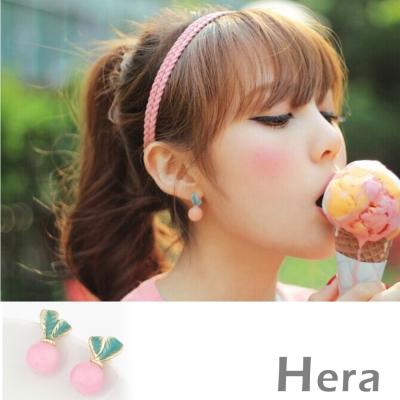 Hera 赫拉 果凍色球球無耳洞耳環/耳扣/耳骨夾-2色(1對入)