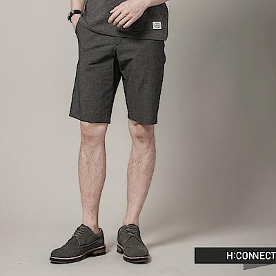 H:CONNECT 韓國品牌 男裝 - 雙色混紗輕便短褲 - 黑(快)
