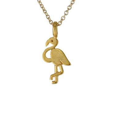 Dogeared 火鶴 flamingo 不斷超越 金色許願項鍊 附原廠盒
