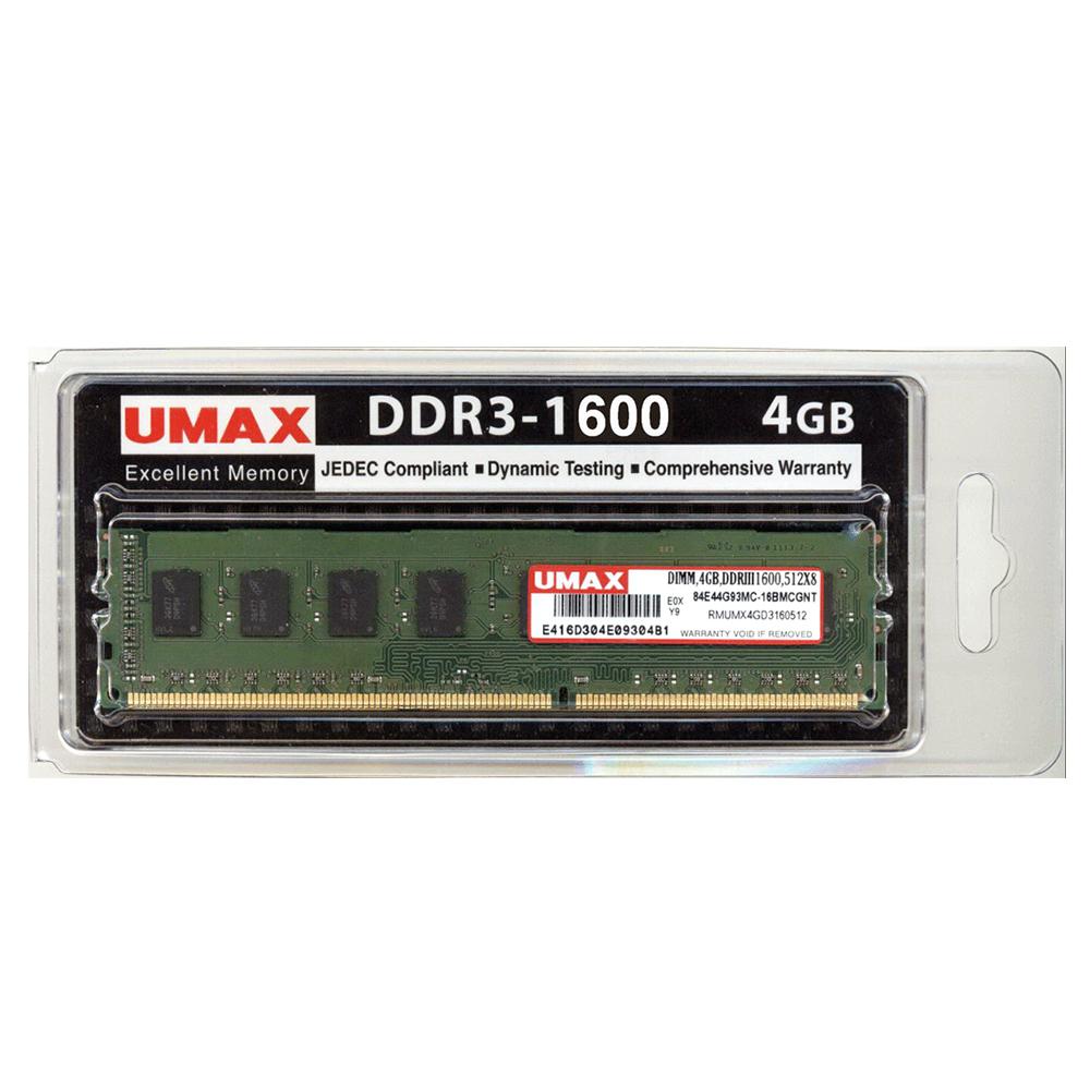 UMAX DDR3-1600 4GB 512X8  桌上型記憶體