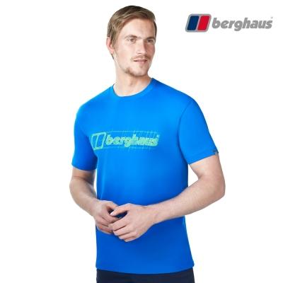 【Berghaus貝豪斯】男款銀離子除臭抗菌吸濕快乾抗UV上衣S04M90潛水藍