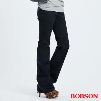 BOBSON 女款粗經紗萊卡小喇叭褲