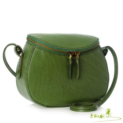 手感的秀 頂級植鞣革甜甜美型斜背包(春藤綠)