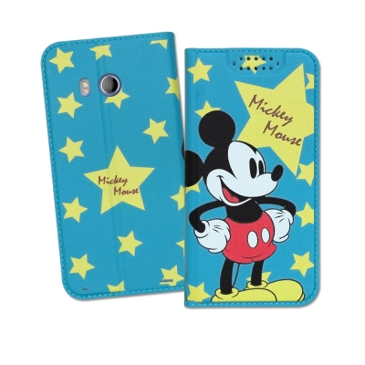 迪士尼正版 HTC U11 5.5吋 印花系列彩繪皮套(米奇)