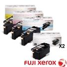FujiXerox 彩色105/215系原廠碳粉2黑3彩組合(CT201591~594)