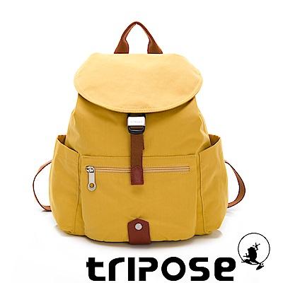 tripose MEMENTO系列微皺尼龍輕量防潑水後背包-小 亮彩黃