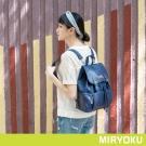 MIRYOKU青春斜紋系列 / 活潑束繩兩用後背包(共4色)