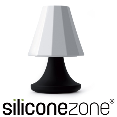 Siliconezone 施理康矽膠創意小檯燈鹽罐/胡椒罐-黑白