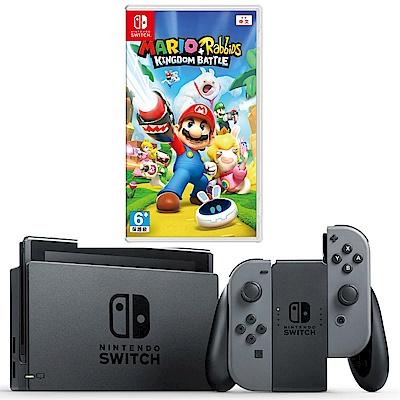任天堂Nintendo Switch-灰 Joy-Con(馬力歐兔子)