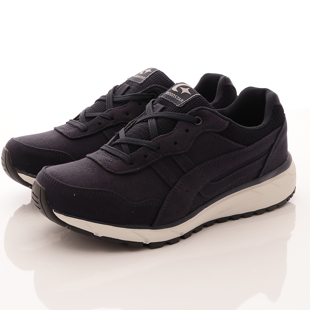 日本Supplist戶外健走鞋-防潑水3E寬楦款-ON615深藍(男段)