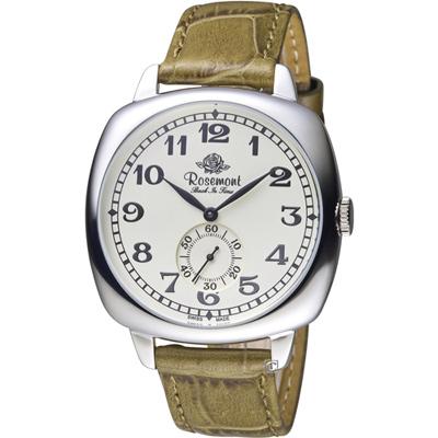 玫瑰錶 Rosemont 戀舊系列獨立秒針復古腕錶-綠/40mm