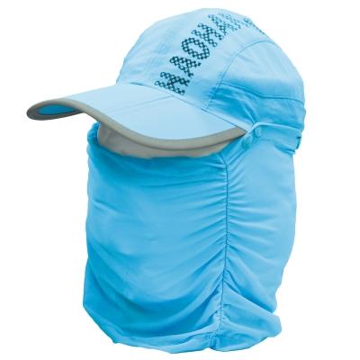 全方位防曬速乾 可拆式透氣護頸遮陽帽 (天藍) -快速到貨