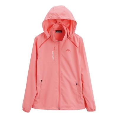 KAPPA義大利 女單層TEFLON風衣外套(可拆帽) 薔薇粉