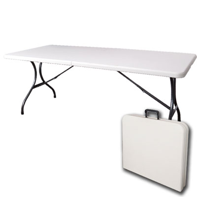 DISING-桌面可折多用途183*76塑鋼折合桌/會議桌183x76x74cm