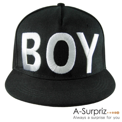 A-Surpriz 韓版街頭流型風字母BOY棒球帽(率性黑)