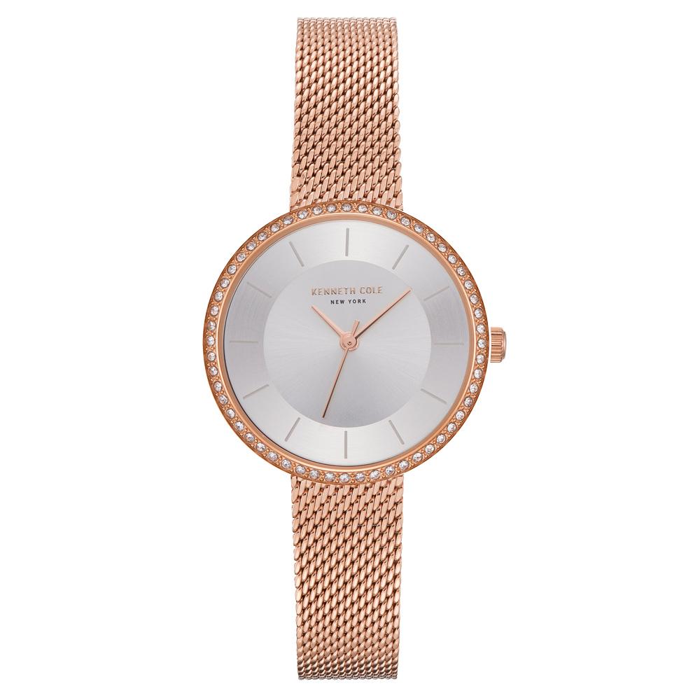 Kenneth Cole 悅美時尚晶鑽米蘭腕錶-KC50198004-32mm