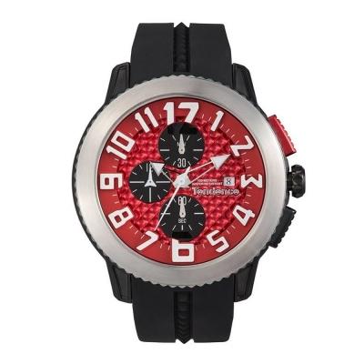 Tendence 天勢錶 圓弧系列計時碼表款-紅/45mm